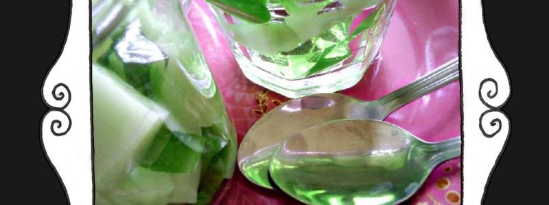 Galaretka agrestowo - miętowa