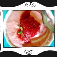 Mrożony deser rabarbarowo-truskawkowy