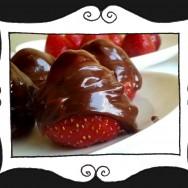 Truskawki z amaretto w czekoladzie