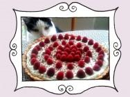 Przepis na Tartę z musem czekoladowym, kremem mascarpone i malinami