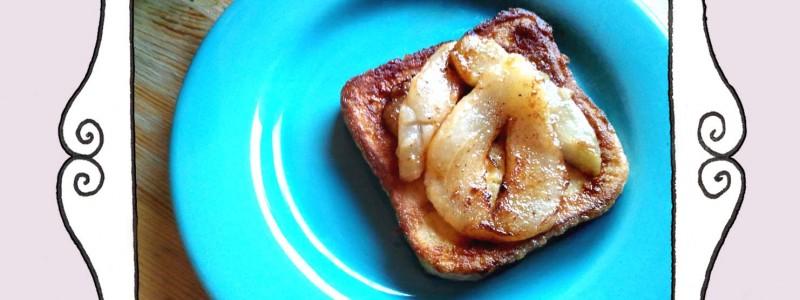Francuskie tosty z gruszką